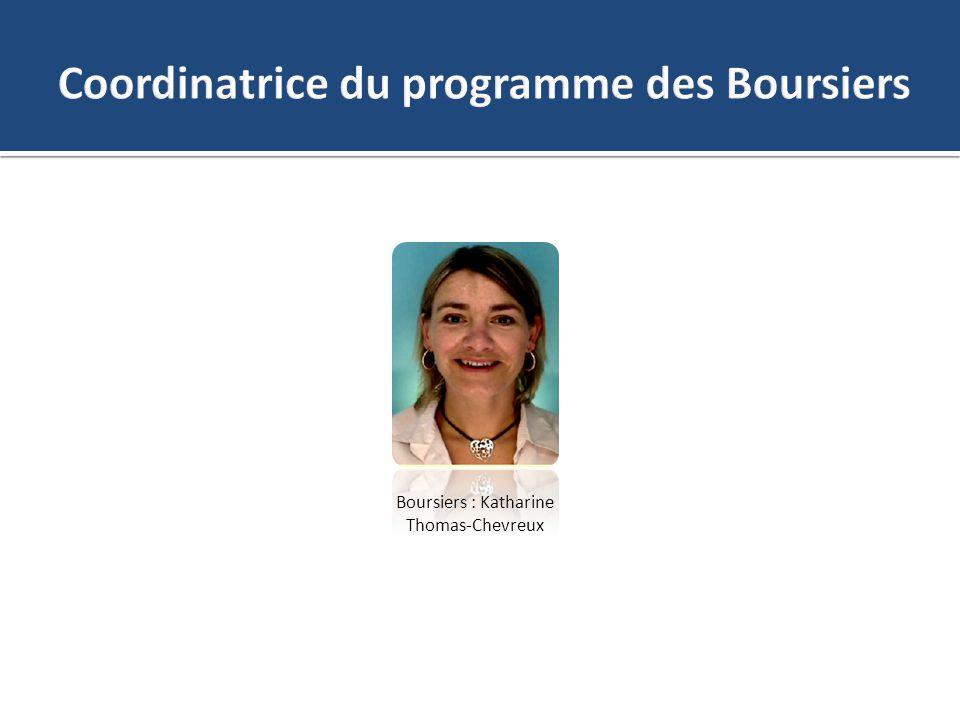 Boursiers : Katharine Thomas-Chevreux