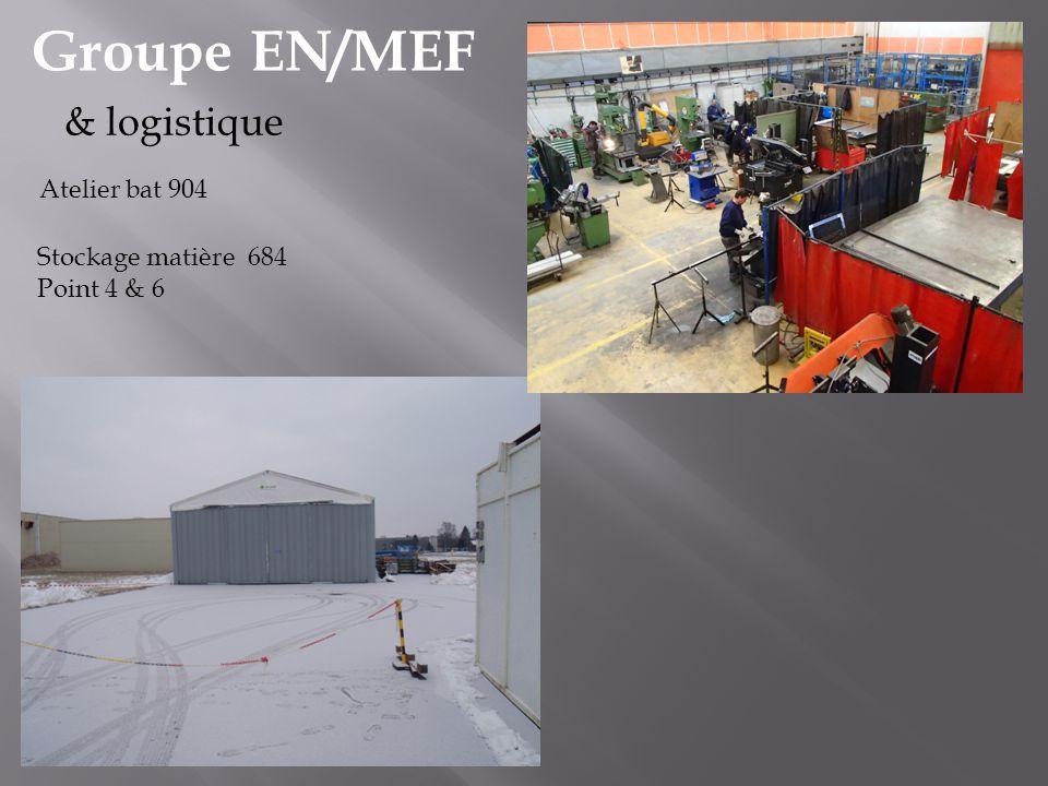 Groupe EN/MEF Atelier bat 904 & logistique Stockage matière 684 Point 4 & 6