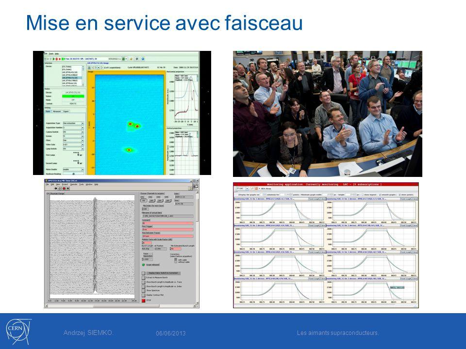 Andrzej SIEMKO. Mise en service avec faisceau 06/06/2013 Les aimants supraconducteurs.
