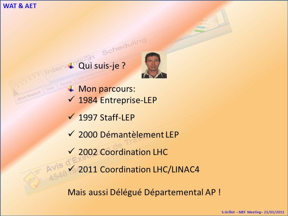 WAT & AET S.Grillot – MEF Meeting– 21/01/2011 Qui suis-je .