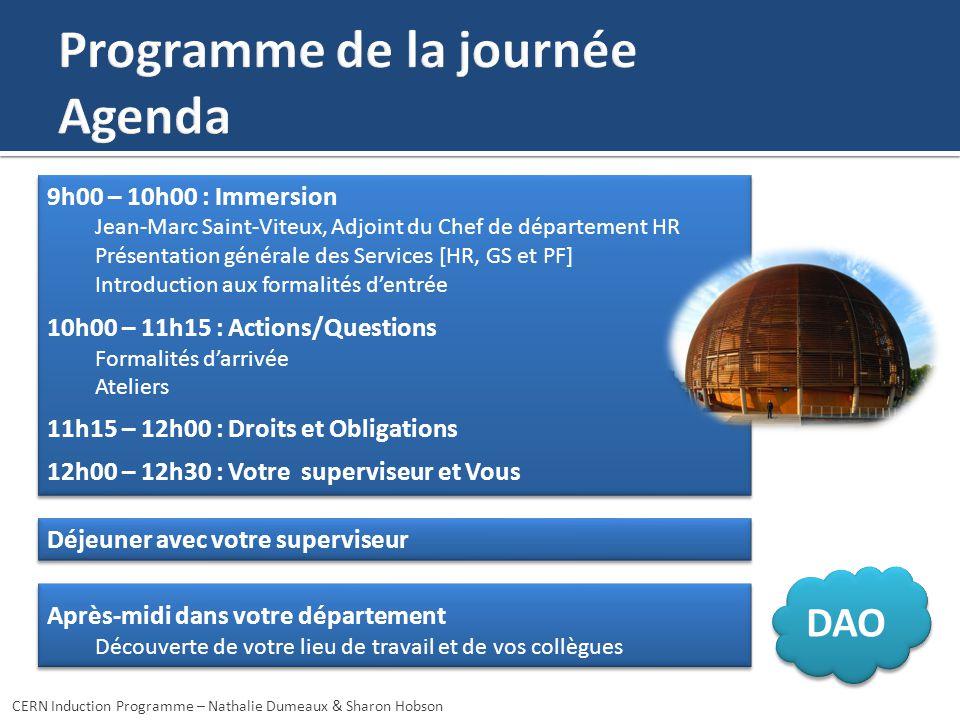9h00 – 10h00 : Immersion Jean-Marc Saint-Viteux, Adjoint du Chef de département HR Présentation générale des Services [HR, GS et PF] Introduction aux