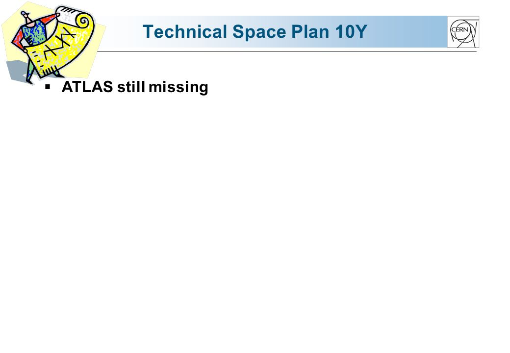 Technical Space Plan 10Y ATLAS still missing