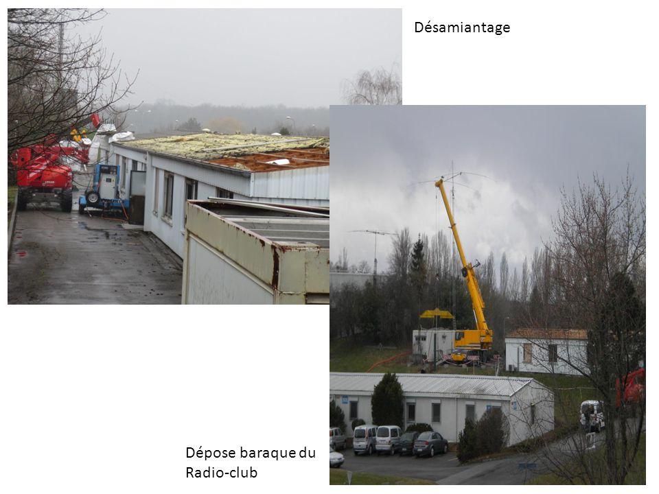 Désamiantage Dépose baraque du Radio-club