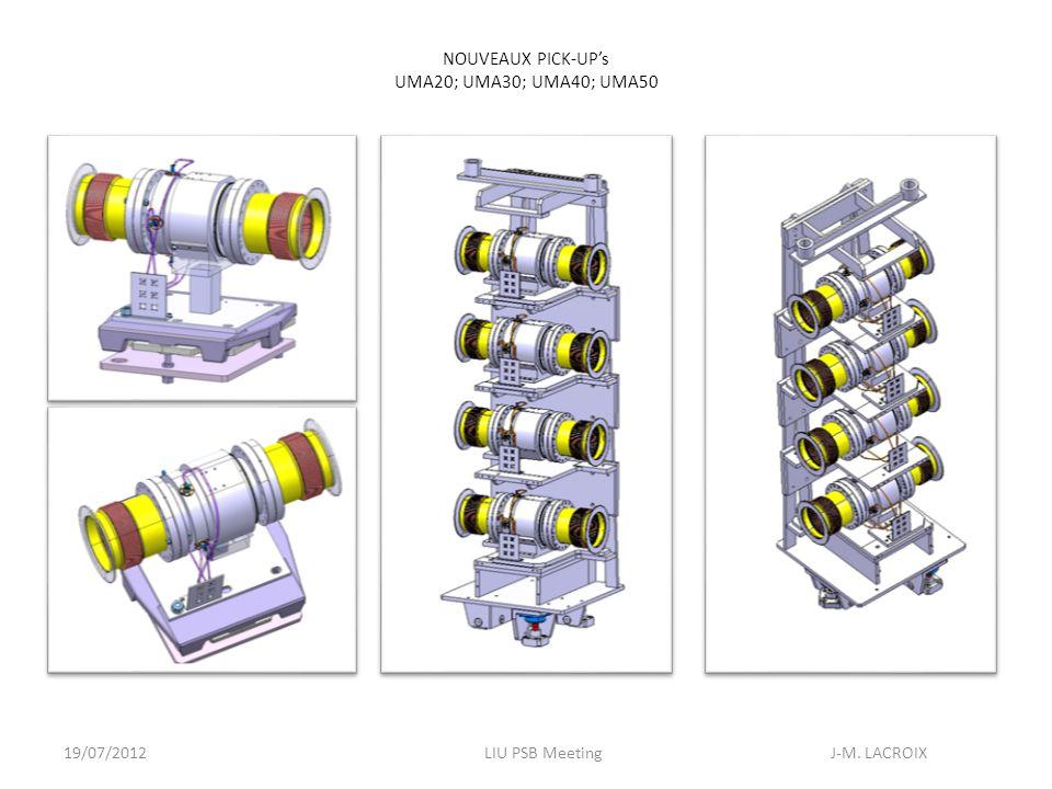 19/07/2012LIU PSB Meeting J-M. LACROIX NOUVEAUX PICK-UPs UMA20; UMA30; UMA40; UMA50