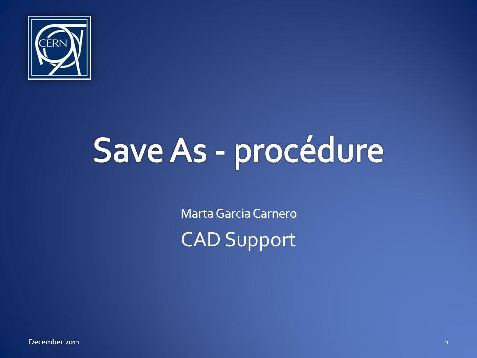 Scénario Préparation pour lopération Save as du 3D Save as du 2D Save as des enfants December 20112