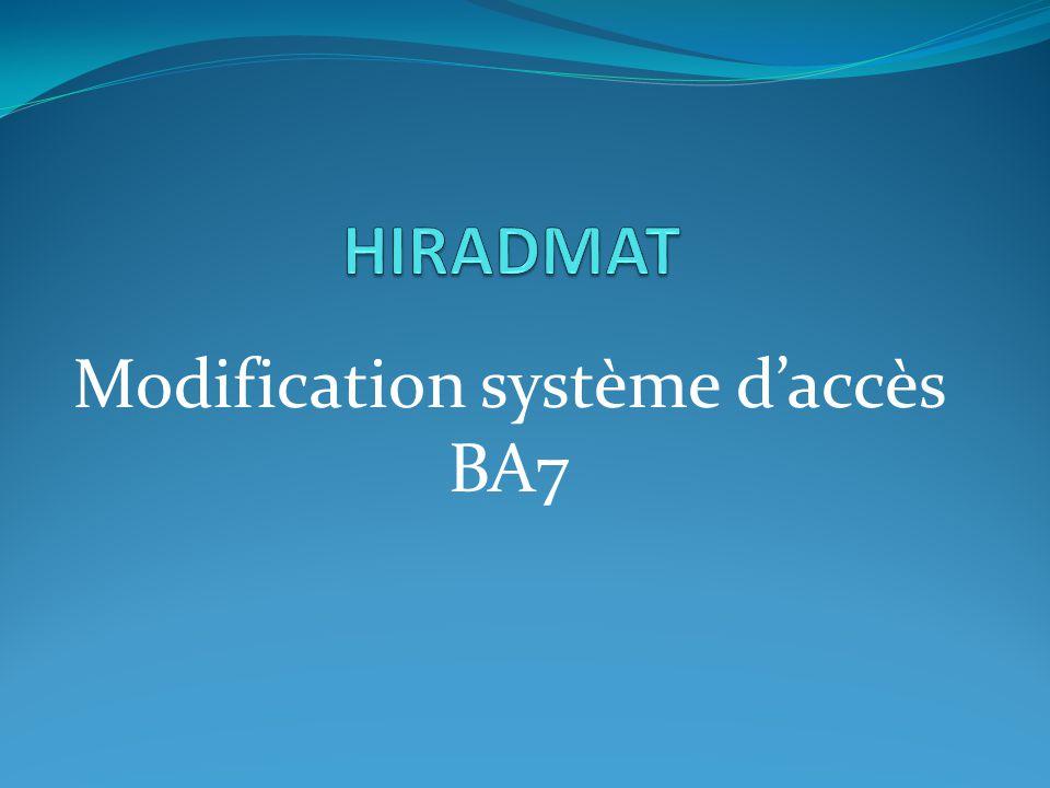 Modification système daccès BA7