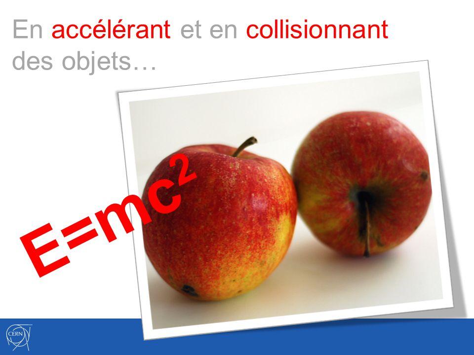 En accélérant et en collisionnant des objets… E=mc 2