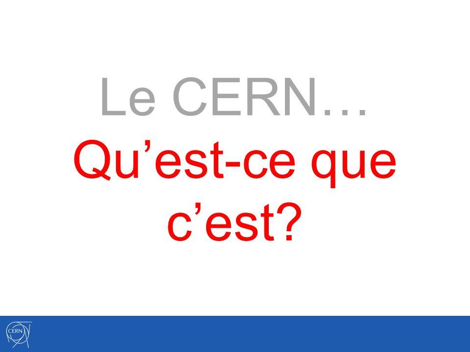 C onseil E uropéen pour la R echerche N ucléaire Ce que signifie « CERN ».