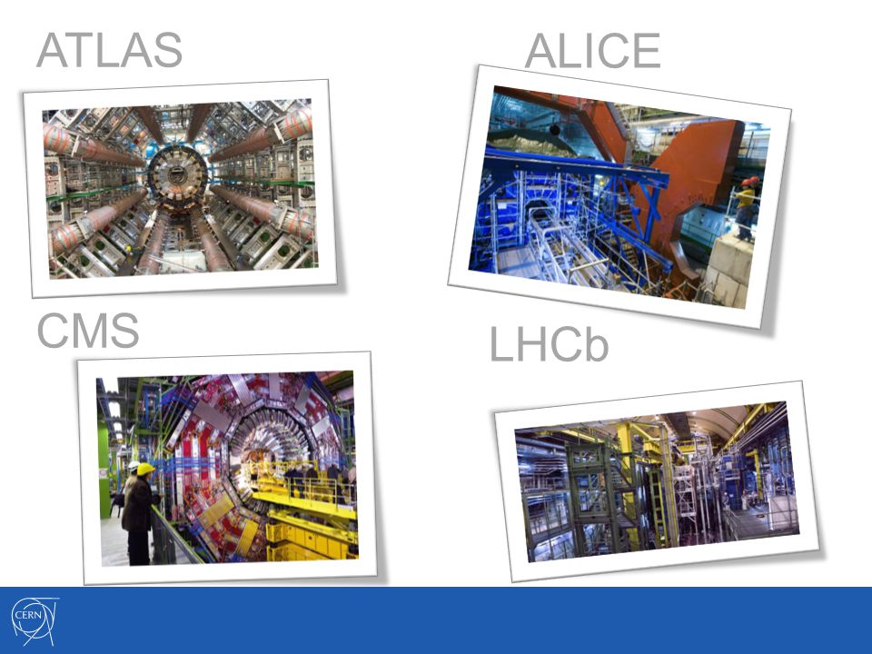 ATLAS ALICE CMS LHCb