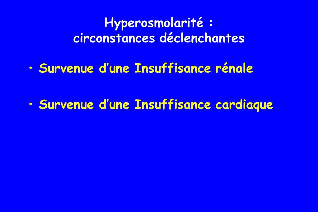 Pas dacidocétose car résidu dinsuline sécrété Pas de lipolyse Pas daccumulation de corps cétoniques Hyperosmolarité