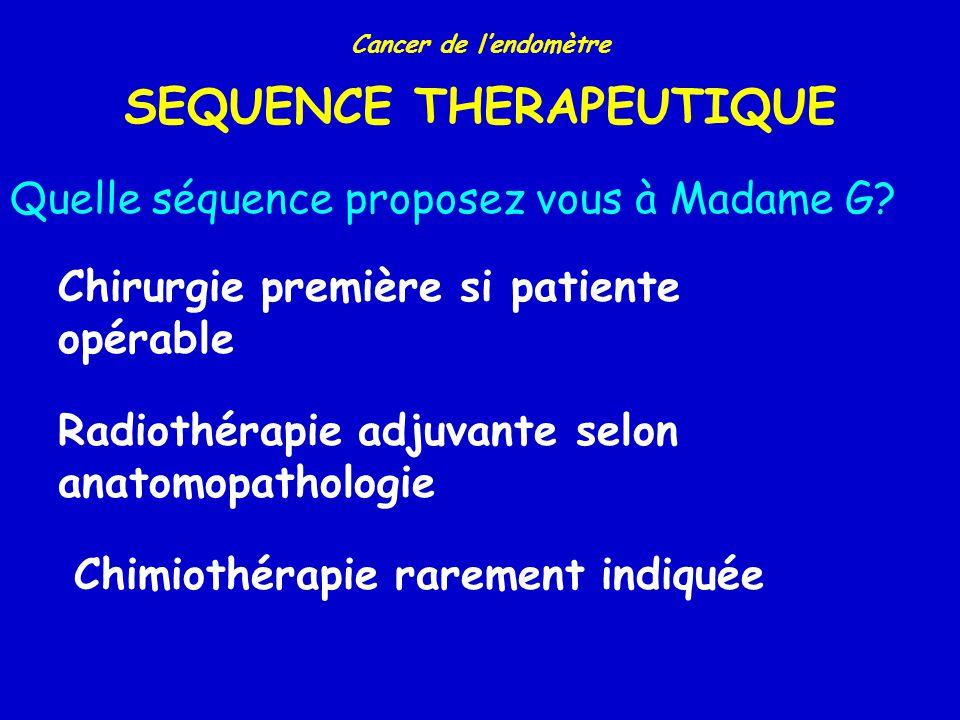 Cancer de lendomètre REPARTITION DES STADES Stade chirurgicalN (%) I II III IV 3839 (73%) 574 (11%) 694 (13%) 166 (3%) Pecorelli.