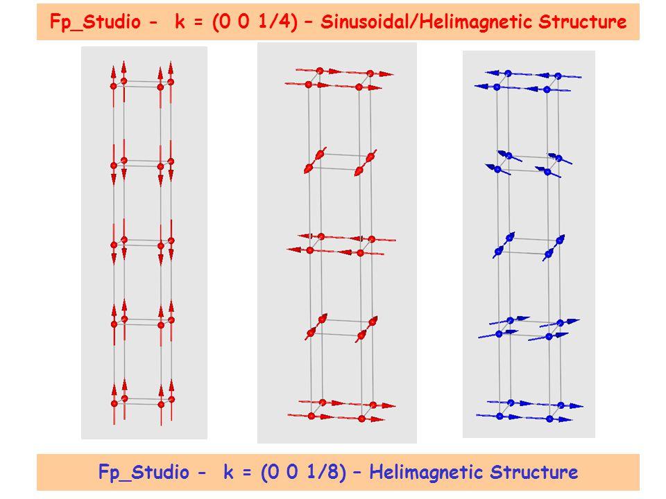 Fp_Studio - k = (0 0 1/8) – Helimagnetic Structure Fp_Studio - k = (0 0 1/4) – Sinusoidal/Helimagnetic Structure