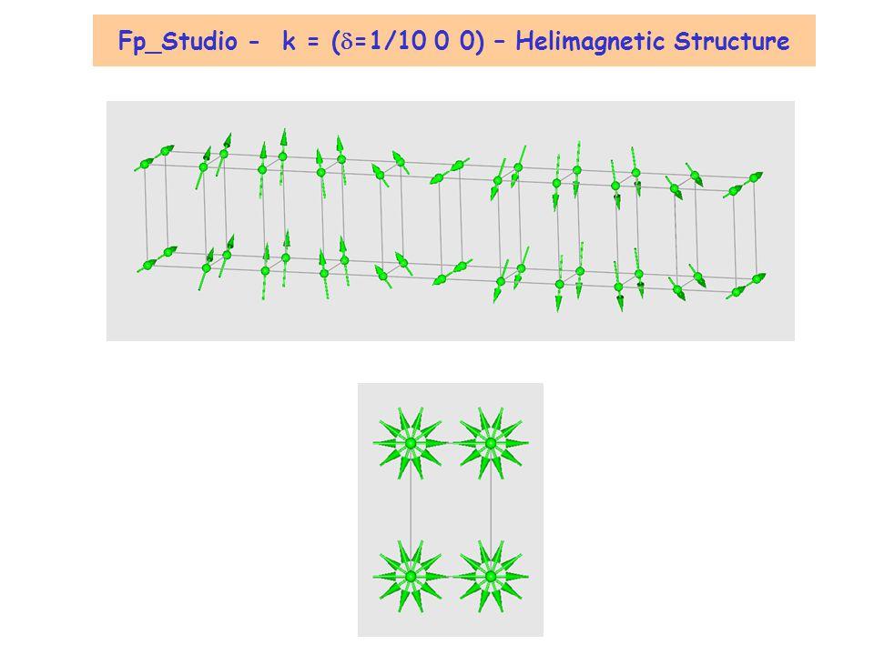 Diffraction de Neutrons 2 B Vecteur de propagation k Neutron [Powder] Diffraction K, vecteur de diffusion k, vecteur de propagation k = (0 0 0) k = (0 0 1/2) k= (0 0 k z ) F M (K) = h k l entiers (k x k y k z ) K = G - k M K = G + k G = h a* + k b* + l c* N