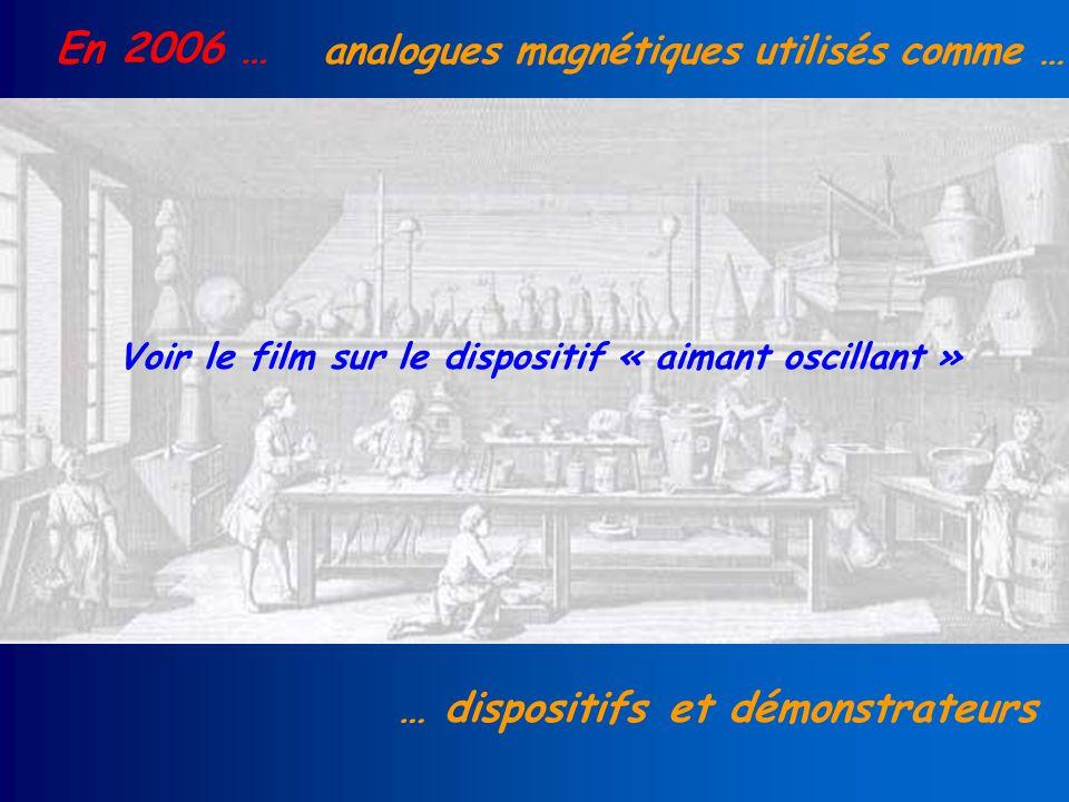 En 2006 … analogues magnétiques utilisés comme … … dispositifs et démonstrateurs Voir le film sur le dispositif « aimant oscillant »