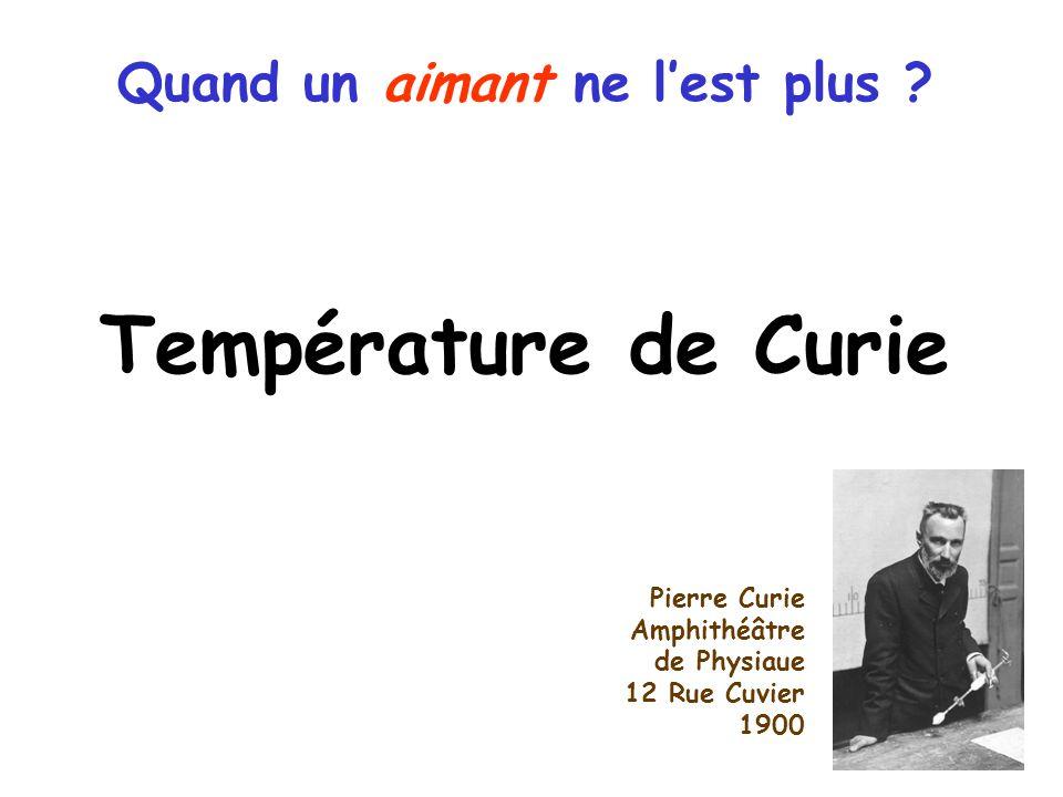 Température de Curie Quand un aimant ne lest plus .