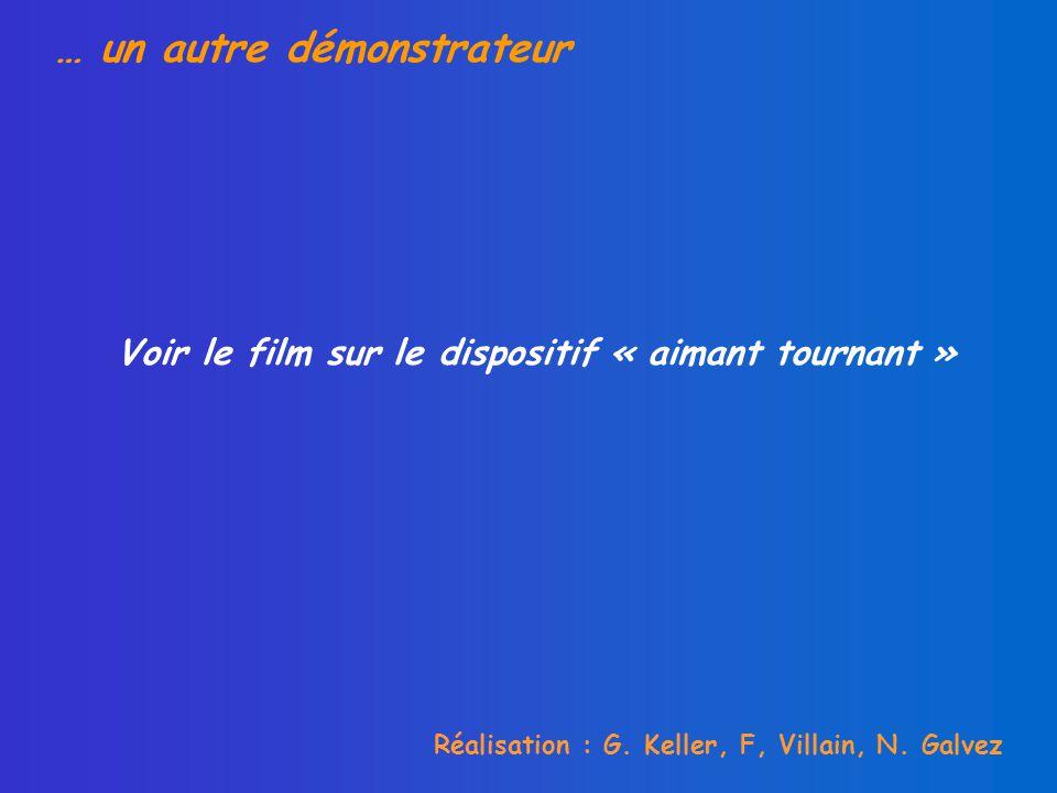 … un autre démonstrateur Réalisation : G. Keller, F, Villain, N.