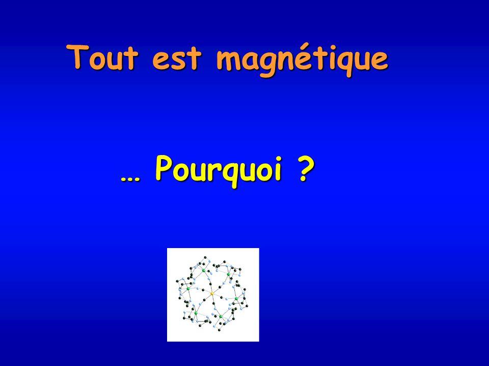 Tout est magnétique … Pourquoi