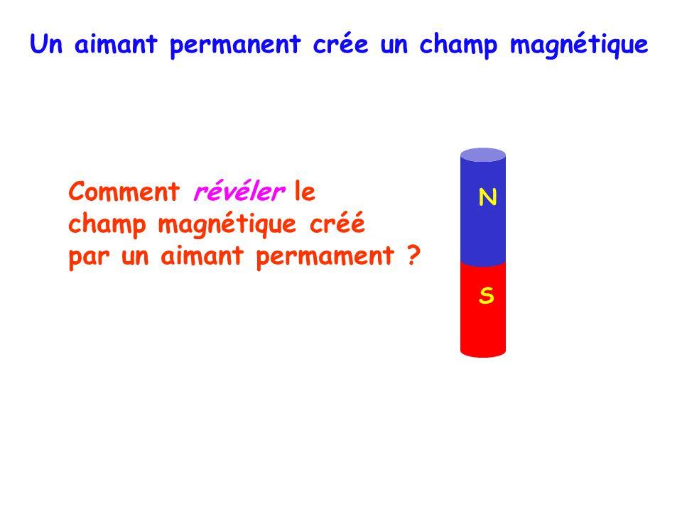 N S Comment révéler le champ magnétique créé par un aimant permament .