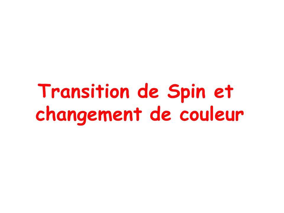 Transition de Spin et changement de couleur