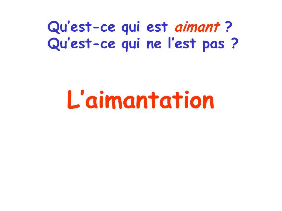 Laimantation Quest-ce qui est aimant Quest-ce qui ne lest pas
