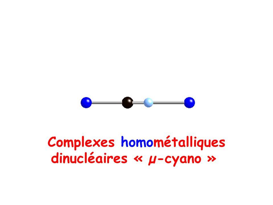 Complexes homométalliques dinucléaires « µ-cyano »