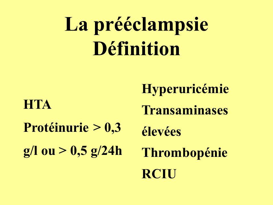 Conséquences de lischémie utéro- placentaire *Génération de radicaux libres *Apoptose *Production de facteurs type VEGFr (sFlt-1) *Déséquilibre des synthèses de Pg *Atteinte des cellules endothéliales *Hyperlipidémie