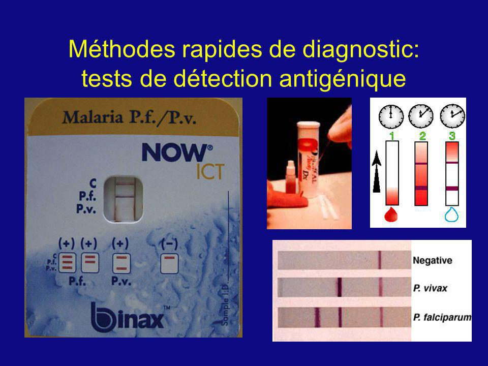 M é thodes rapides de diagnostic: tests de d é tection antig é nique