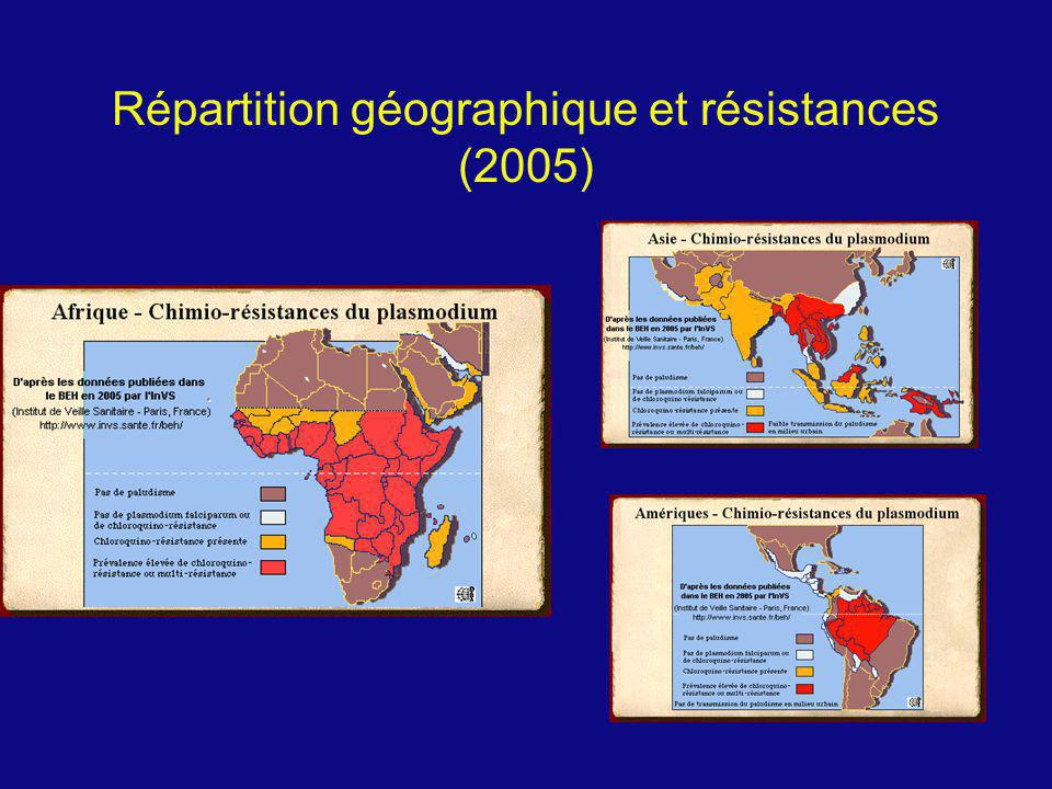 Répartition géographique et résistances (2005)