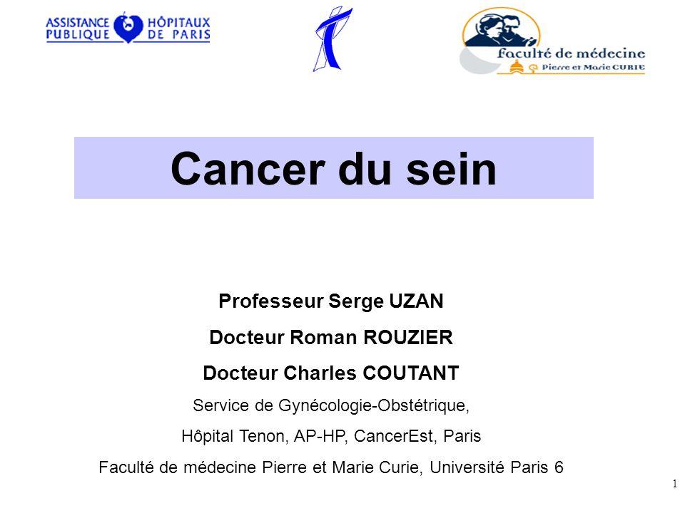 – Cest le plus fréquent des cancers chez la femme.