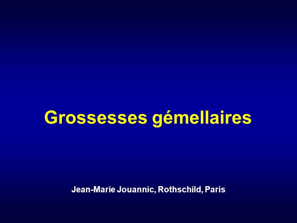 Grossesses gémellaires Jean-Marie Jouannic, Rothschild, Paris