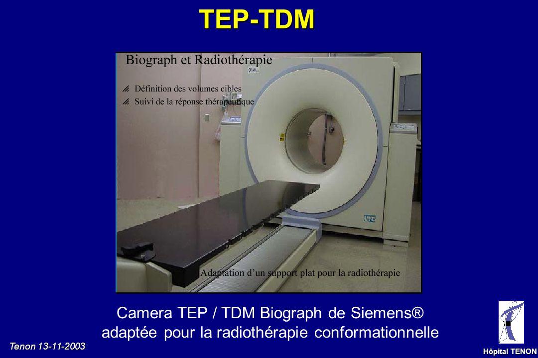 Tenon 13-11-2003 Hôpital TENON Caméra TEP dédiée L émissiondepositons La détection Le 18 F- FDG