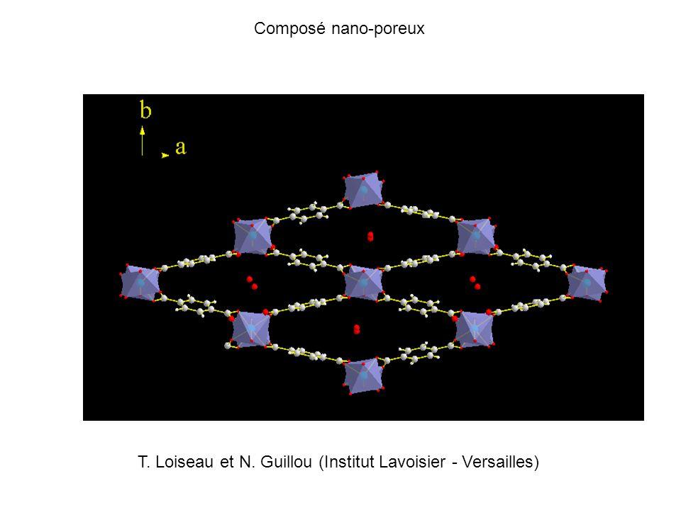 Composé nano-poreux T. Loiseau et N. Guillou (Institut Lavoisier - Versailles)
