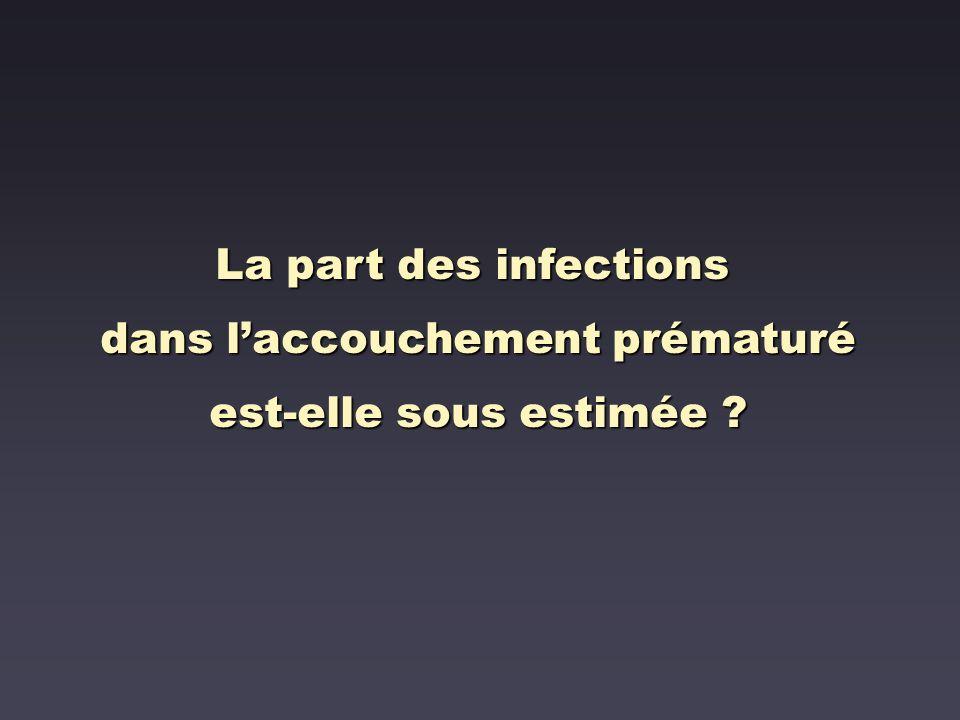 La part des infections dans laccouchement prématuré est-elle sous estimée ?