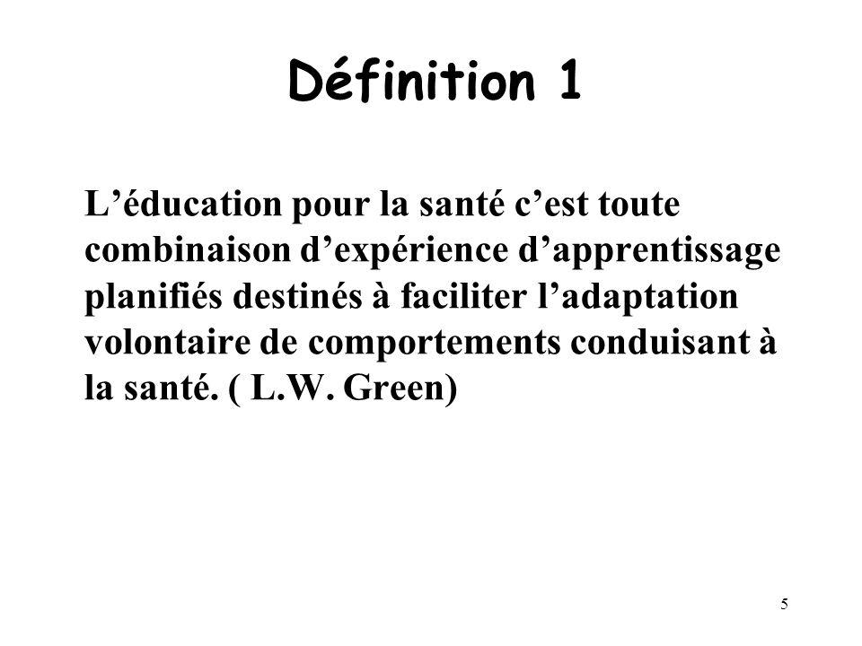 4 Généralités Léducation du patient fait lobjet de nombreuses définitions. Elle est un aspect particulier de léducation pour la santé dont la principa