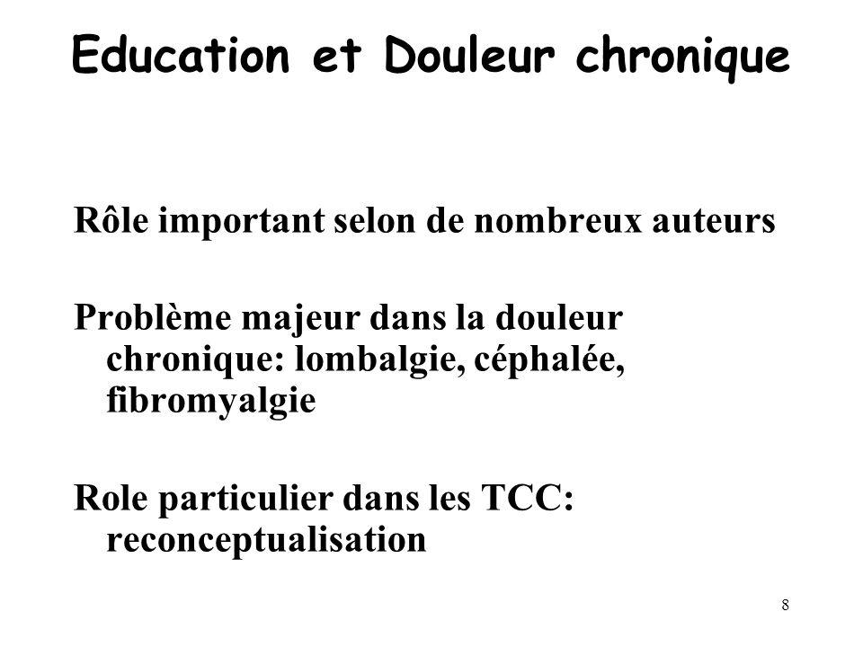 7 Définition 3 « Léducation doit avoir pour résultat la modification définie à lavance du comportement du malade au cours dune période donnée. » ( Dow