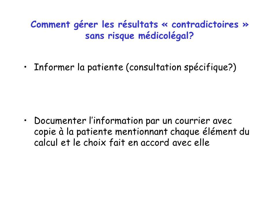 Comment gérer les résultats « contradictoires » sans risque médicolégal.