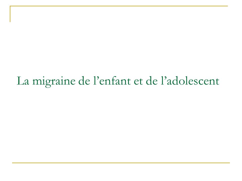 Labsence de pensée alternative : migraine ou travail