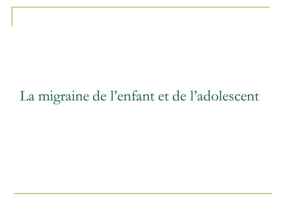 La migraine de lenfant et de ladolescent
