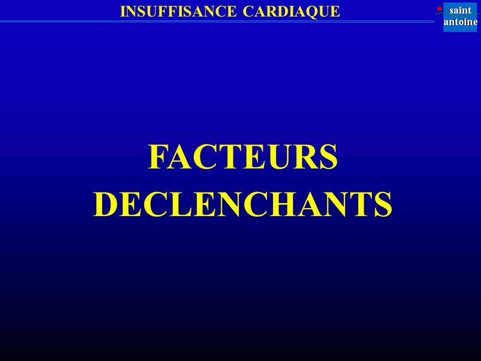 INSUFFISANCE CARDIAQUE FACTEURS DECLENCHANTS