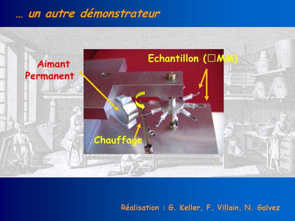 … un autre démonstrateur Aimant Permanent Echantillon (MM) Chauffage Réalisation : G. Keller, F, Villain, N. Galvez
