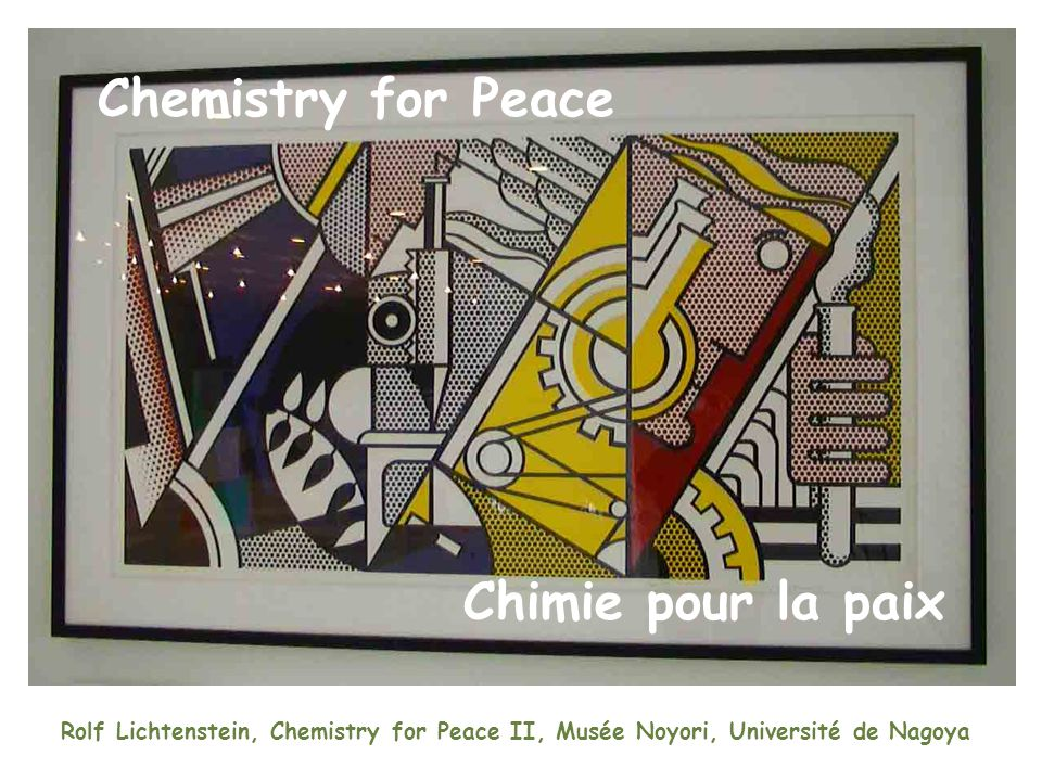 Rolf Lichtenstein, Chemistry for Peace II, Musée Noyori, Université de Nagoya Chemistry for Peace Chimie pour la paix