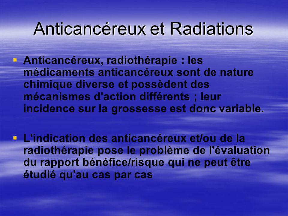 Anticancéreux et Radiations Anticancéreux, radiothérapie : les médicaments anticancéreux sont de nature chimique diverse et possèdent des mécanismes d