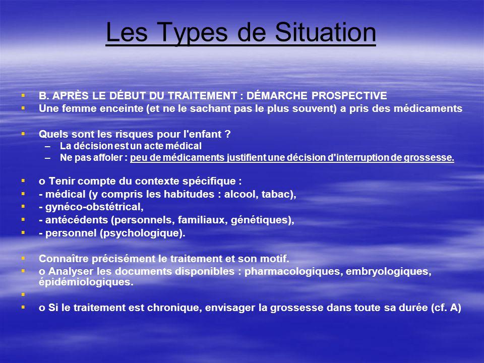 Les Types de Situation C.