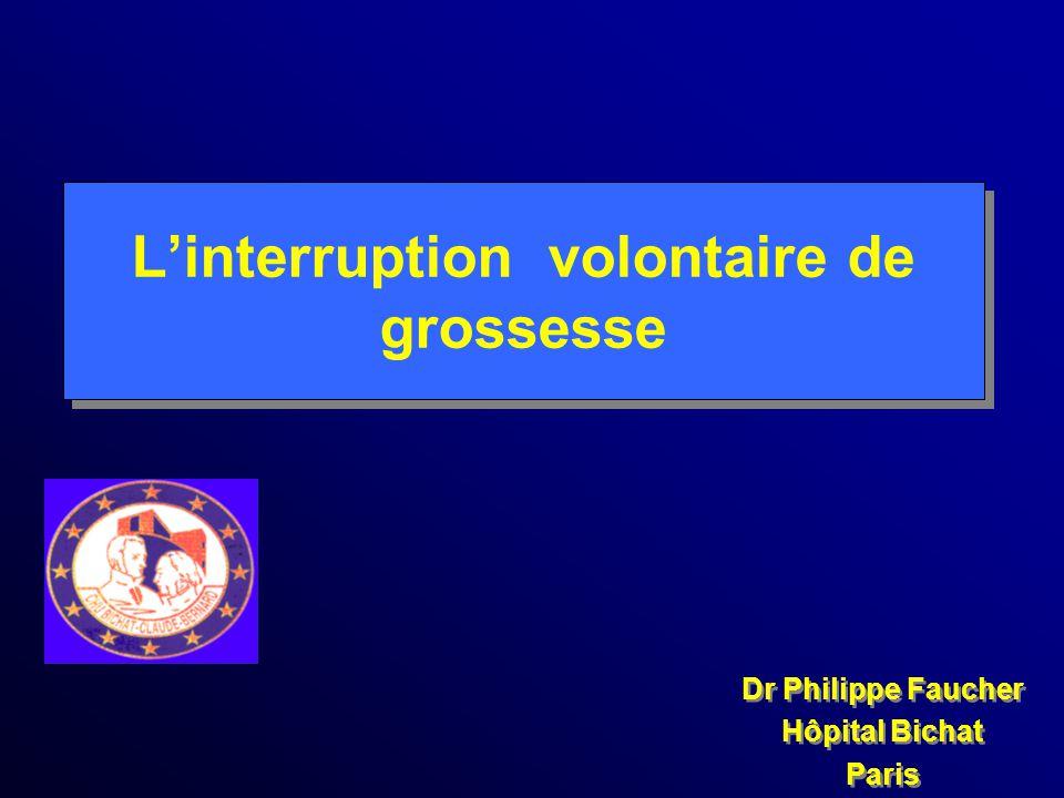 Linterruption volontaire de grossesse Dr Philippe Faucher Hôpital Bichat Paris Dr Philippe Faucher Hôpital Bichat Paris