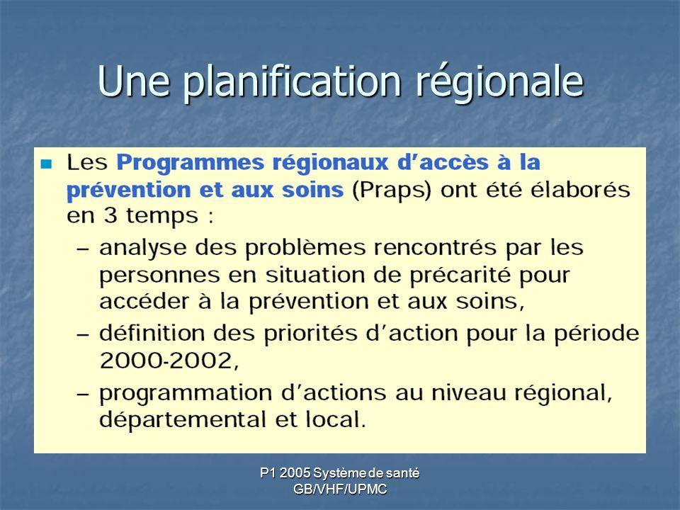 P1 2005 Système de santé GB/VHF/UPMC Une planification régionale