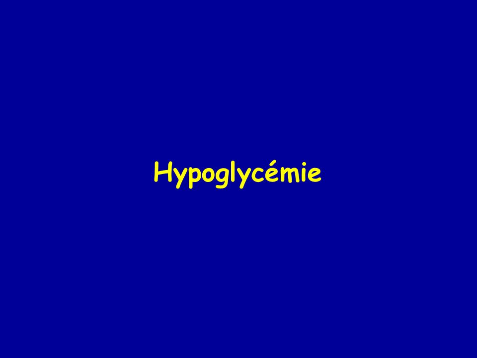 Hypoglycémie