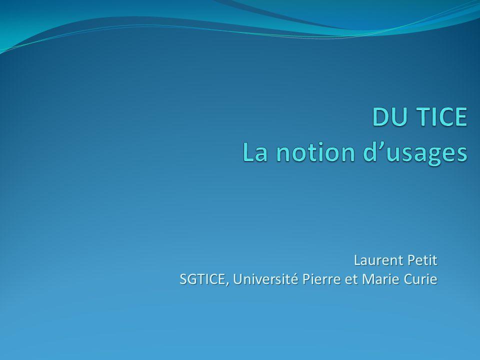 Laurent Petit SGTICE, Université Pierre et Marie Curie