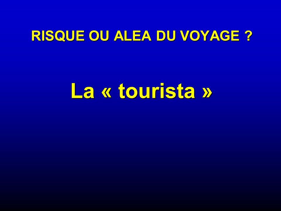 RISQUE OU ALEA DU VOYAGE ? La « tourista »