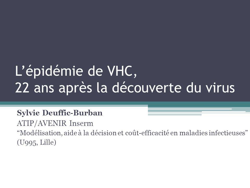 Lépidémie de VHC, 22 ans après la découverte du virus Sylvie Deuffic-Burban ATIP/AVENIR Inserm Modélisation, aide à la décision et coût-efficacité en
