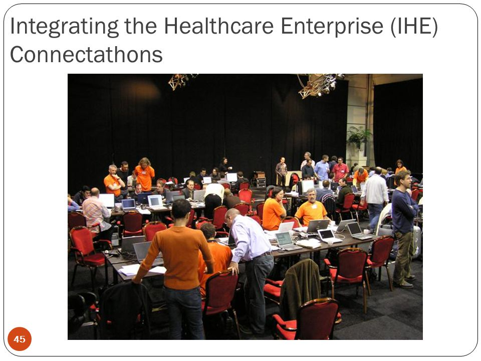 45 Integrating the Healthcare Enterprise (IHE) Connectathons